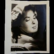 """Vintage Hollywood Actress Photograph Ingrid Bergman Black & White 5"""" x 4"""""""