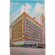 Vintage 1940's Hotel Haywood Los Angeles California Postcard
