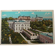 1915-1930's President's Office White House, Washington, D.C. NOS Postcard