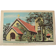1940's St. Ann's Episcopal Church, Sayville, Long Island, New York NOS Postcard