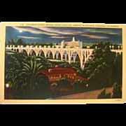 1930-40's Colorado Street Bridge, Hotel Del Arroyo, Pasadena CA NOS Postcard