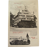 Early 1900's Postcard Hotel Lindauer-Hof Lindau Germany NOS