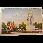 1939 George Washington James Earle Fraser New York World's Fair NOS Postcard