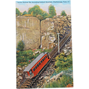 Incline Railway Car Lookout Mountains Tennessee NOS New Old Stock Postcard