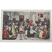 Master John Hus Council Constance 1415 Vintage NOS New Old Stock Postcard