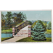 Stone Bridge Grounds of Mr Newman Beach New Jersey NOS New Old Stock Vintage Postcard