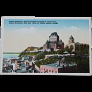 Hotel Des Postes Citadel Quebec Canada Vintage Postcard