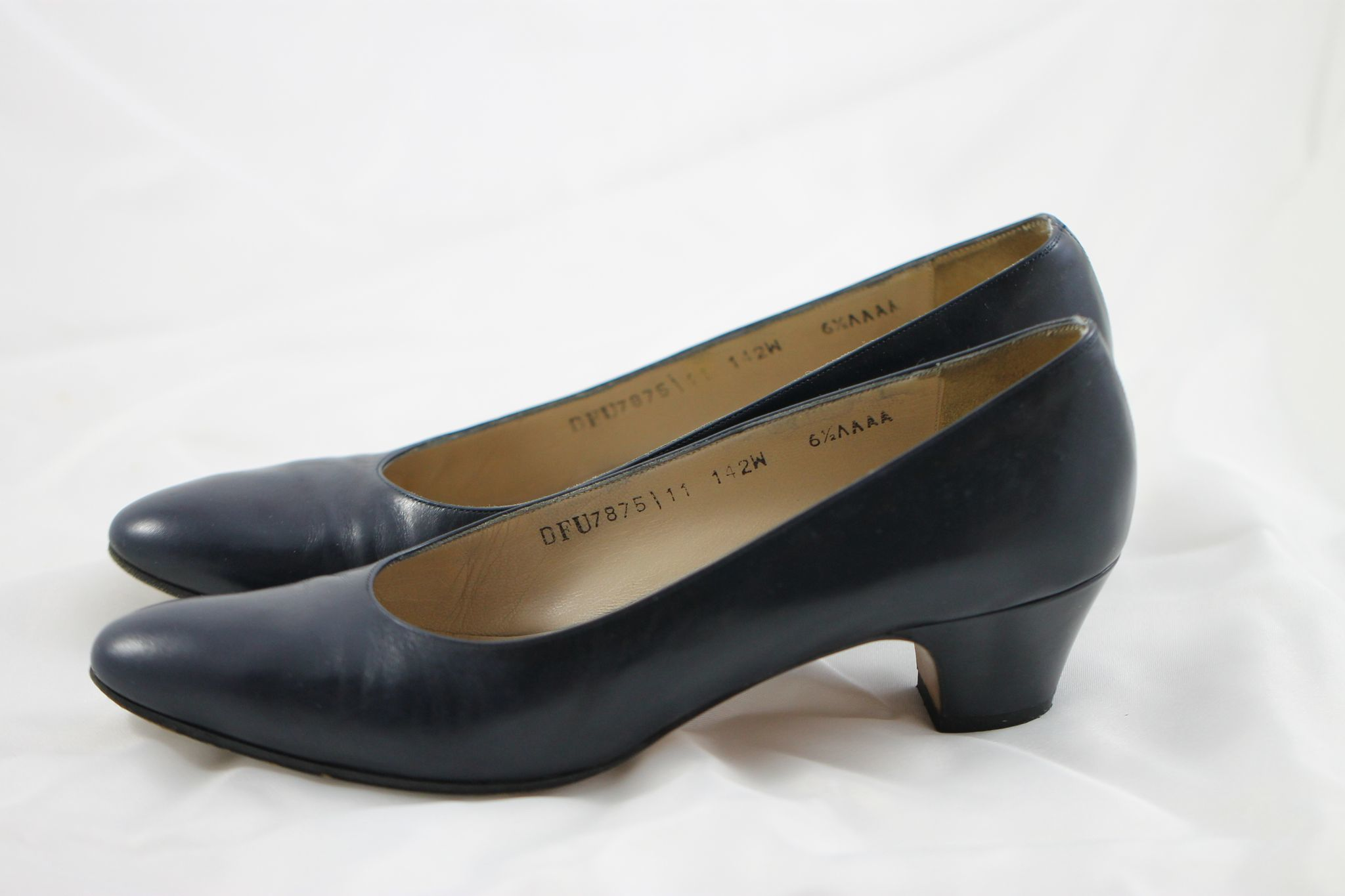 Womens Navy Heels Shoes