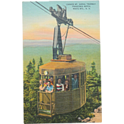 Cannon Mountain Aerial Tramway Franconia Notch White Mountains Vintage Postcard NOS