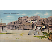 Indian Pueblo Ole Southwest Vintage NOS New Old Stock Postcard