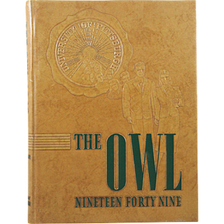 University of Pittsburgh Pennsylvania 1949 Owl Yearbook Annual College PA