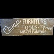 Vintage Hand Made Sign