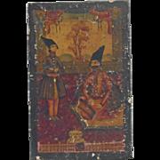 18th Century Qajar Paper Mache Box