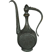 Large Rare & Early Middle Eastern Ewer/ Coffee Pot