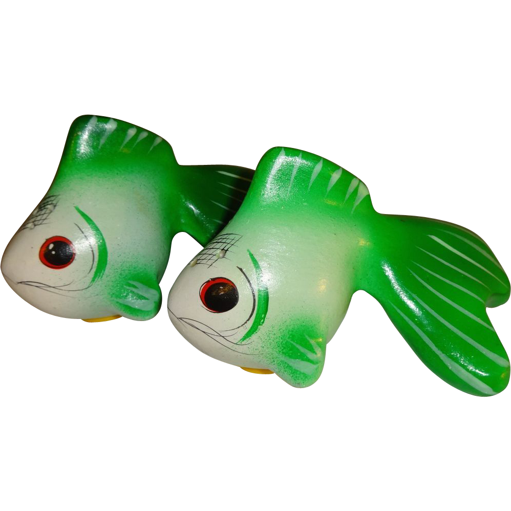 Green Betta Fish Salt And Pepper Shakers Sold On Ruby Lane