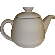 Frankoma Westwind White Sand Pattern Teapot and Lid