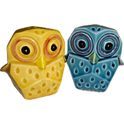 Lefton Colorful Owl Salt and Pepper Shakers - Made in Japan