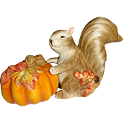 Orange Pumpkin & Squirrel Salt and Pepper Shakers