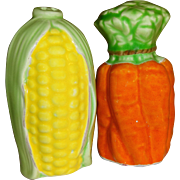 Lefton Corn on the Cob & Orange Carrots Salt and Pepper Shakers