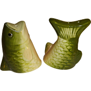 Fish Head and Fish Tail Salt and Pepper Shakers - Red Tag Sale Item