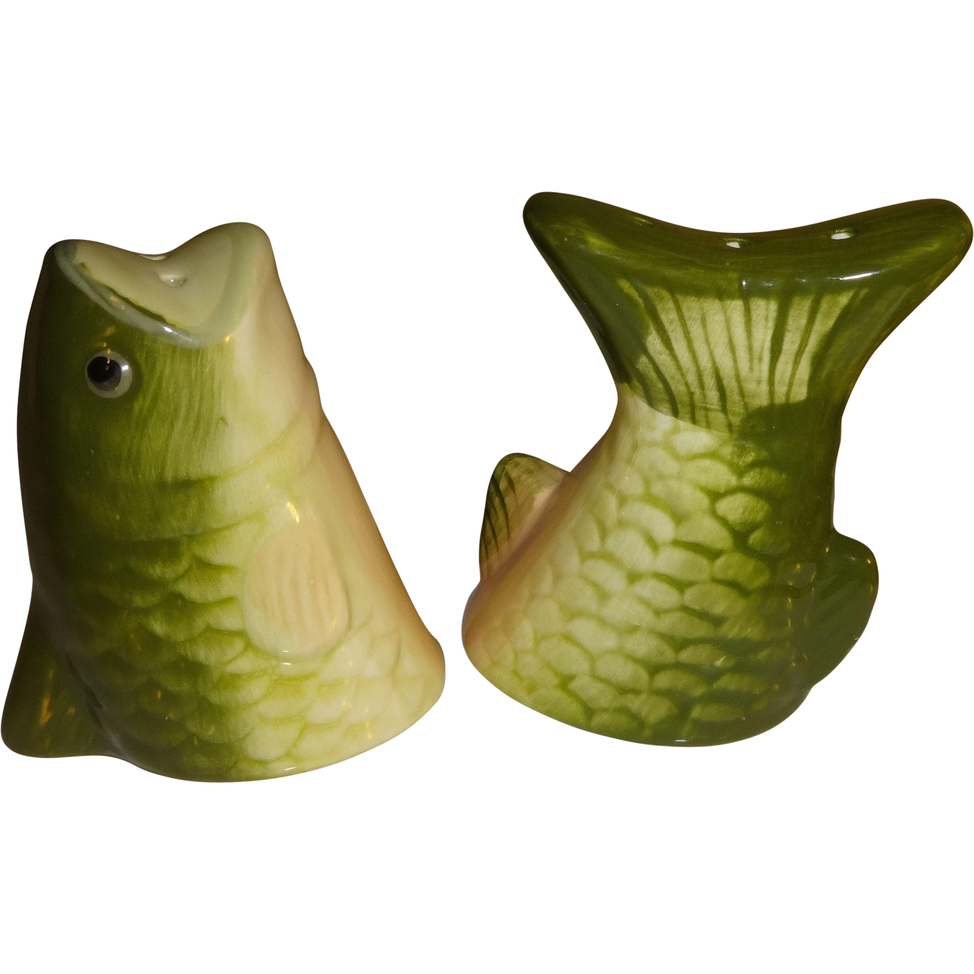 Fish Head And Fish Tail Salt And Pepper Shakers From