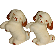 Brown and White Standing Dogs Salt and Pepper Shakers