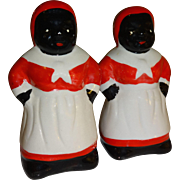 Black Americana Mammy Salt and Pepper Shakers