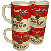 Campbell's Condensed Tomato Soup 1915 Design Ceramic Cups - Set of 4