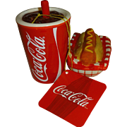 Coca-Cola Collectibles Drink and Hot Dog Salt & Pepper Shakers