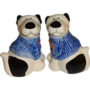 Dogs with Blue Sweaters Salt and Pepper Shakers