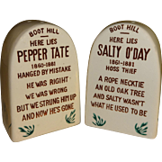 Headstones Salt and Pepper Shakers - Made in Japan