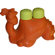 Vintage Plastic Camel Salt and Pepper Shakers