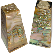 Mother of Pearl Abalone Souvenir Salt and Pepper Shakers