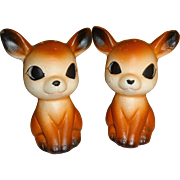 Brown Deers with Big Ears Salt and Pepper Shakers