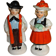 Mini German Couple Salt and Pepper Shakers
