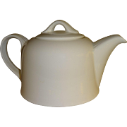 White Porcelain Two Cup Individual Teapot