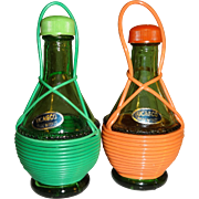 Ucagco Wrapped Wine Bottles Salt and Pepper Shakers