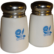 Milk Glass Morning Glory Salt and Pepper Shakers