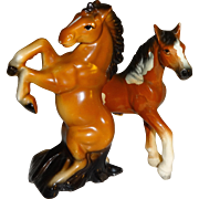 Brown Wild Horses Salt and Pepper Shakers