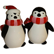 Penguins Wearing Scarfs Salt and Pepper Shakers