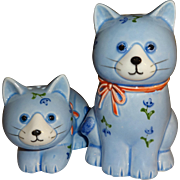 Otagiri Blue Cats Salt and Pepper Shakers - Japan