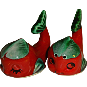 Red Flirty Angel Fish Salt and Pepper Shakers