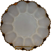 Anchor Hocking Milk Glass Deviled Egg Tray