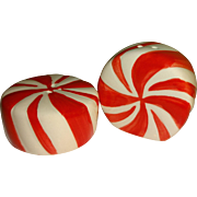 Mini Peppermint Candy Salt and Pepper Shakers