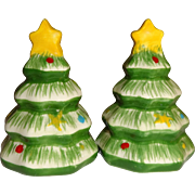 Mini Christmas Tree's Salt and Pepper Shakers - Red Tag Sale Item