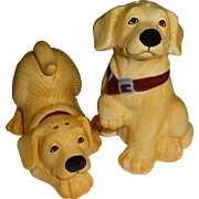 Playful Yellow Labs Salt and Pepper Shakers