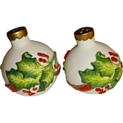 Fitz & Floyd Christmas Bulbs Salt and Pepper Shakers