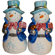 Patriotic Snowmen Salt and Pepper Shakers