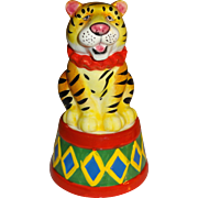 Circus Tiger on Decorated Base Salt and Pepper Shakers