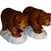 Pair of Brown Bears Salt and Pepper Shakers